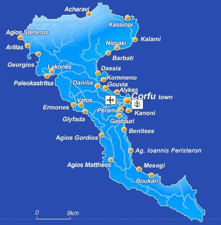 Korfu Blog Archive Ke Stazeni Mapy Ostrova Korfu